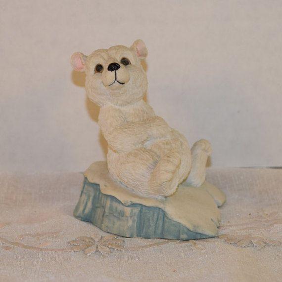 Nature's Friends Polar Bear Figurine by ShellysSelectSalvage