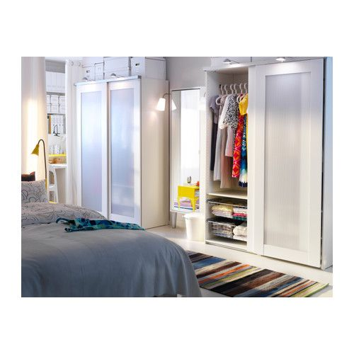 ELG ANEBODA Sliding door IKEA Sliding doors require less space when open  than a standard wardrobe