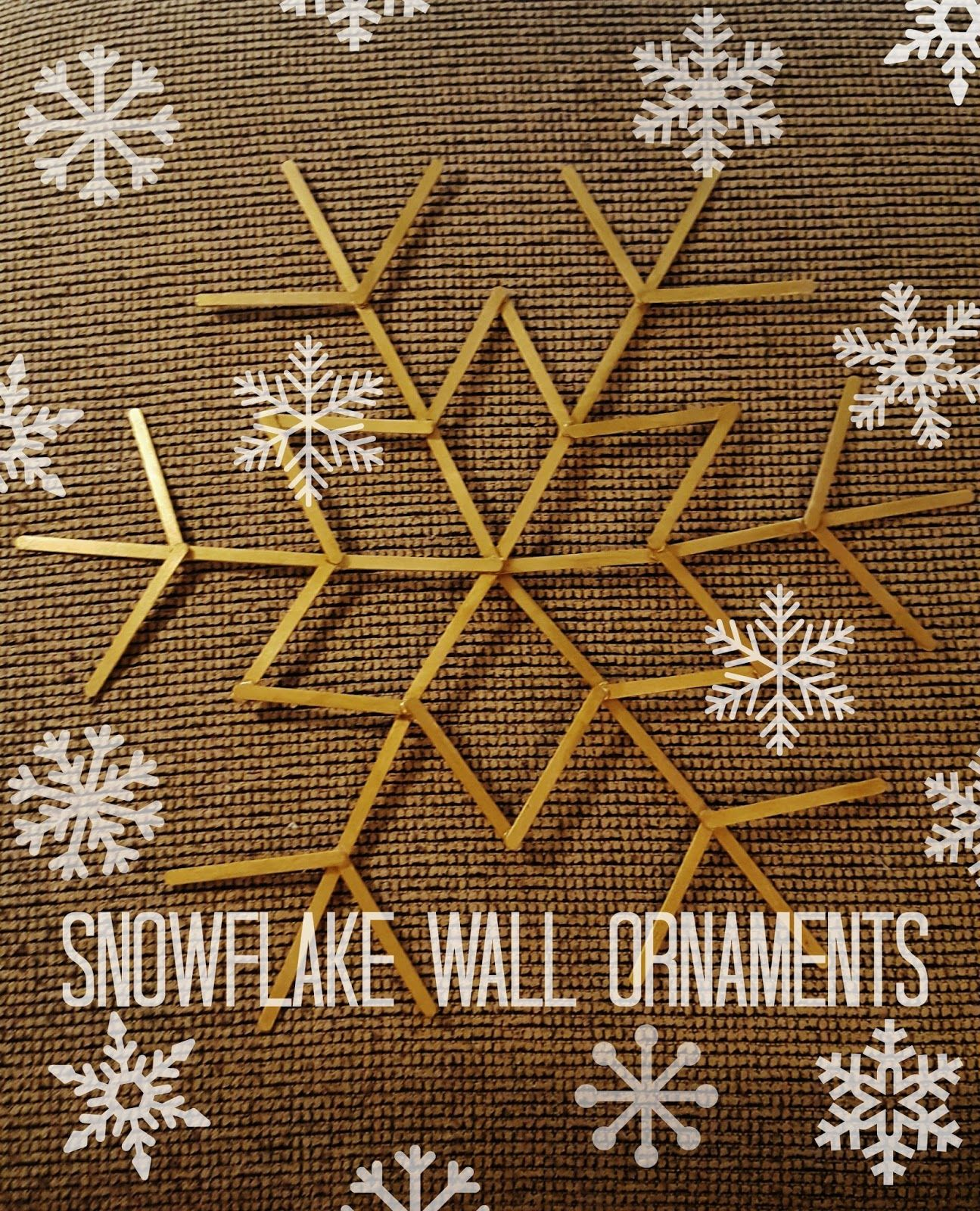 Kelsey's Craft Corner: Snowflake wall ornaments from popsicle sticks