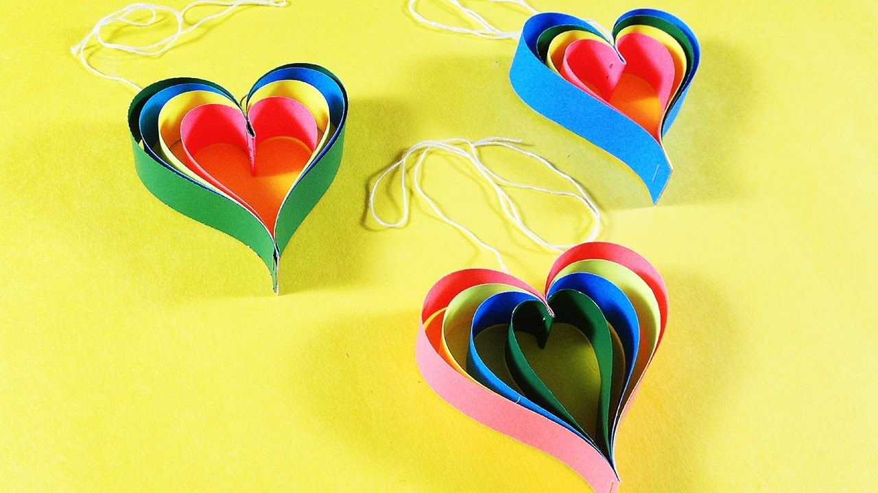 How to Make Paper Heart for Decorate Wall | DIY Paper Heart ...