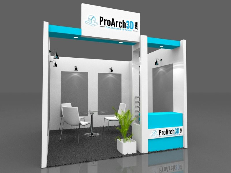 Exhibition Booth Obj : Exhibition stall d model free booth