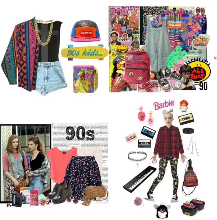 Prächtig Was anziehen zur 90er Jahre Outfit - bunte Klamotten | 90er in #PT_07