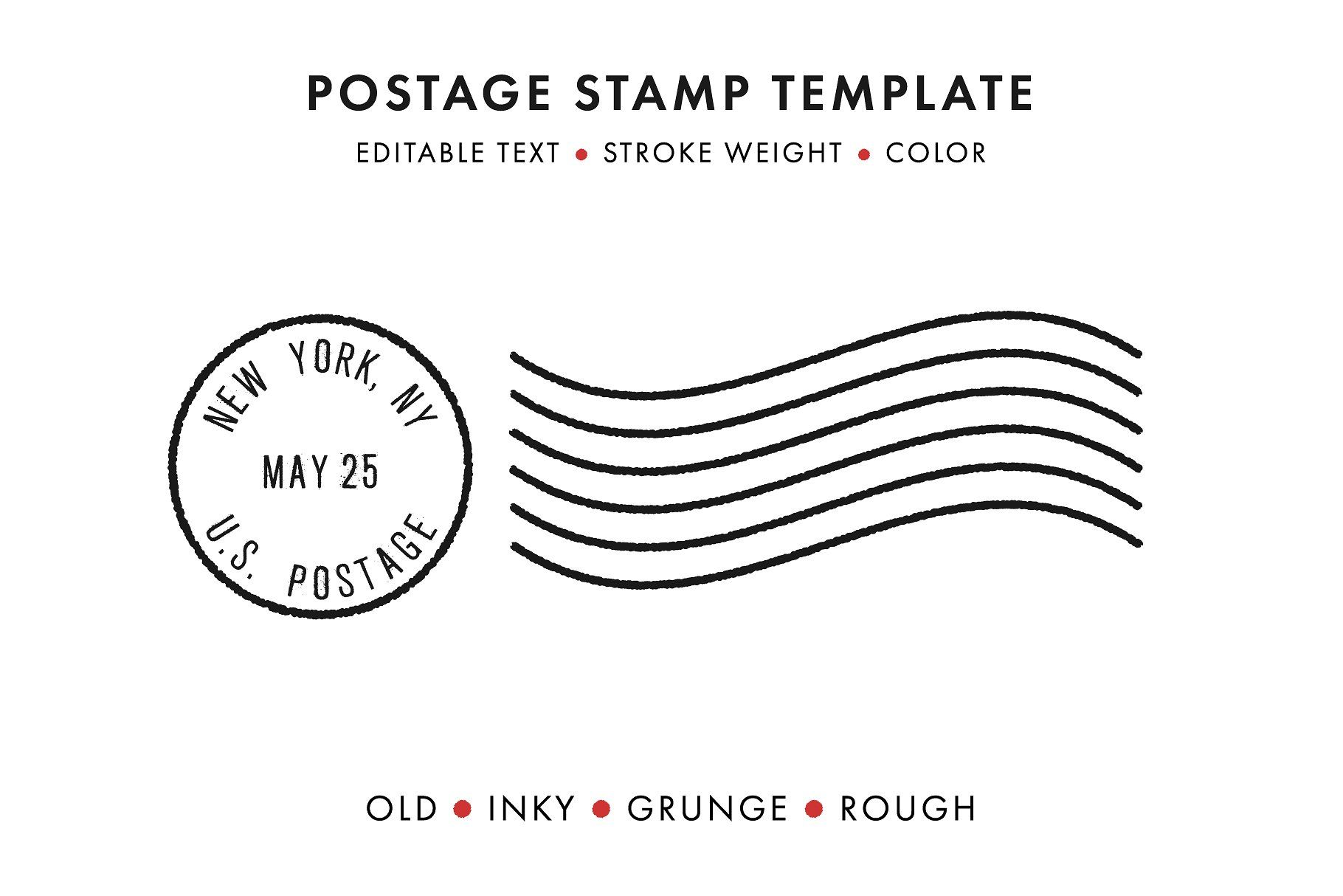 Postage Stamp Template Set Updated Postage Stamps Stamp