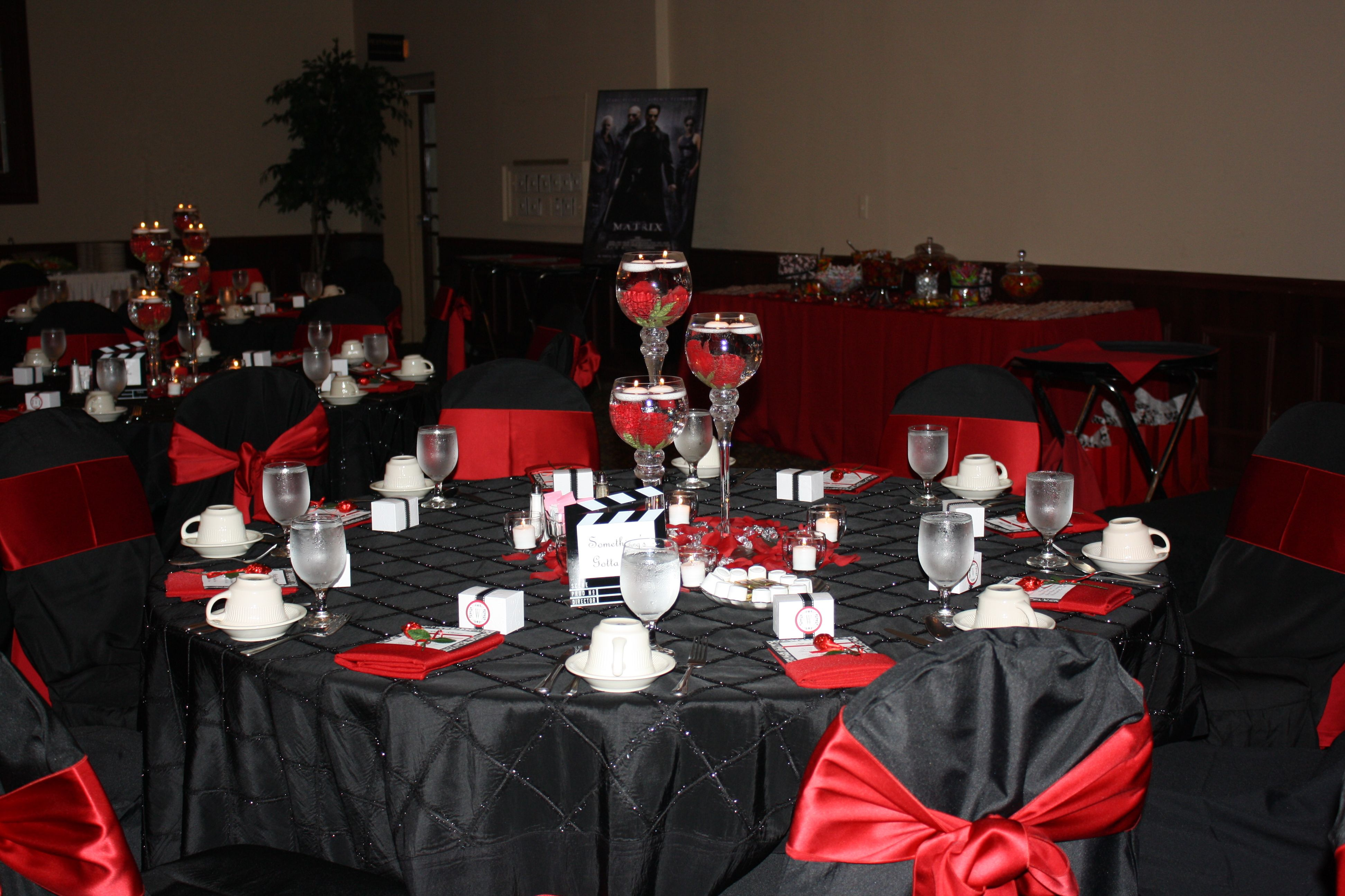 Red Black White Wedding Movie Theme