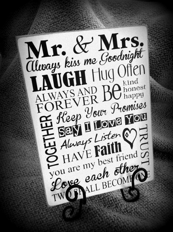 Mr. & Mrs. vinyl subway art. Great wedding gift idea or a