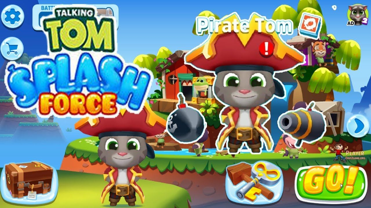 Talking Tom Splash Force Unlocked Pirate Tom Android Ios Gameplay Fireboy And Watergirl Talking Tom Font Graphic