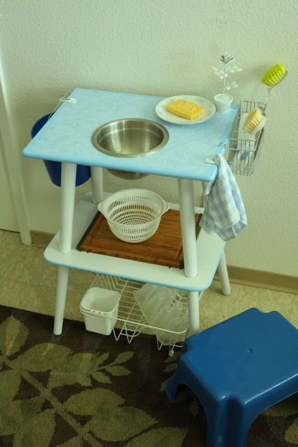 Kid wash and prep station (thrift store find hack/DIY
