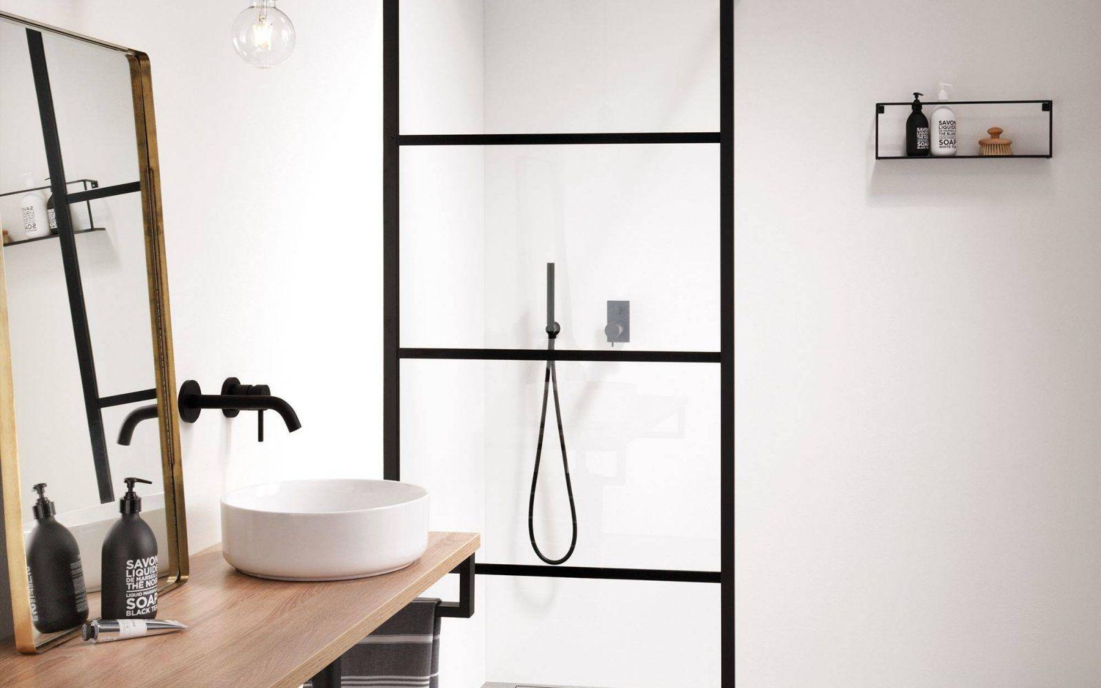 Industriele Badkamer Begehbare Dusche Badezimmer Einrichtung