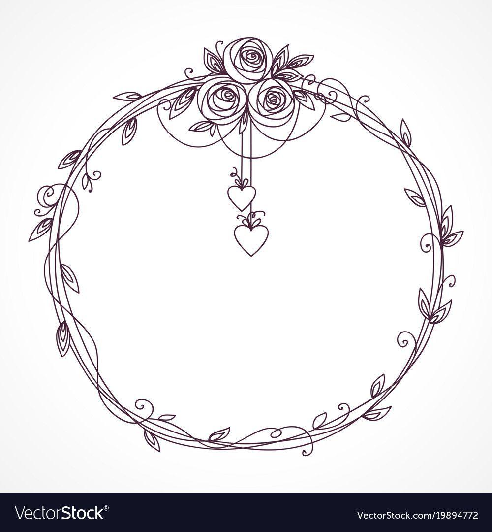 Photo of #valentines day wreath illustration