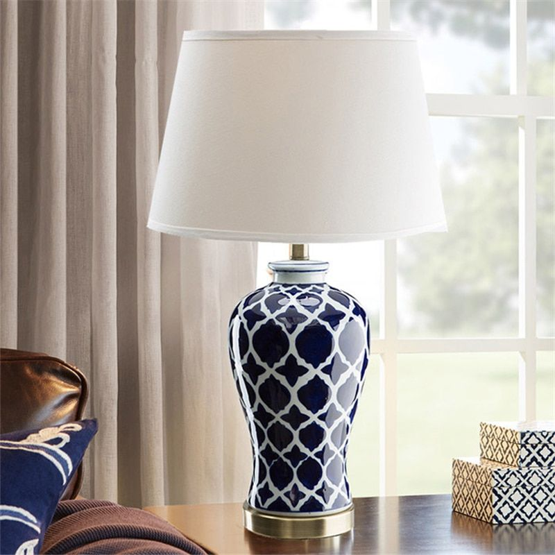 Cheap Ceramic Table Lamp Buy Quality Blue Ceramic Table Lamp Directly From China Table Lamp Suppliers Chinese Blue C Ceramic Table Lamps Table Lamp Blue Lamp
