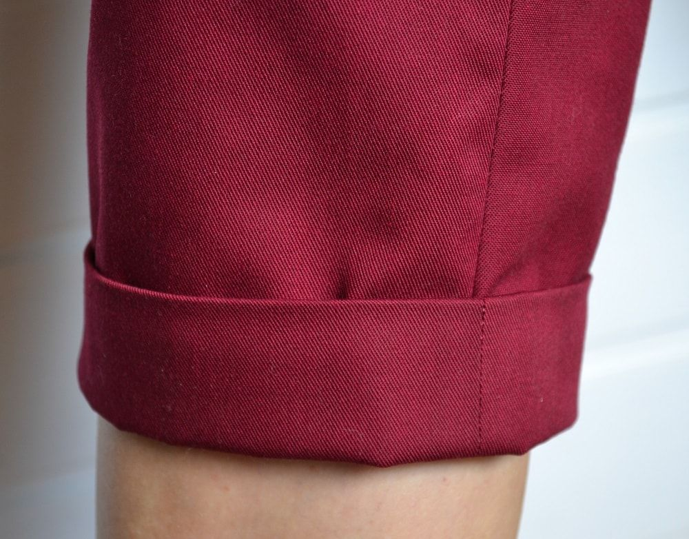 How To Hem Pants With A Cuff The Cuff On The Bottom Of Shorts How To Hem Pants Sewing Sewing For Kids
