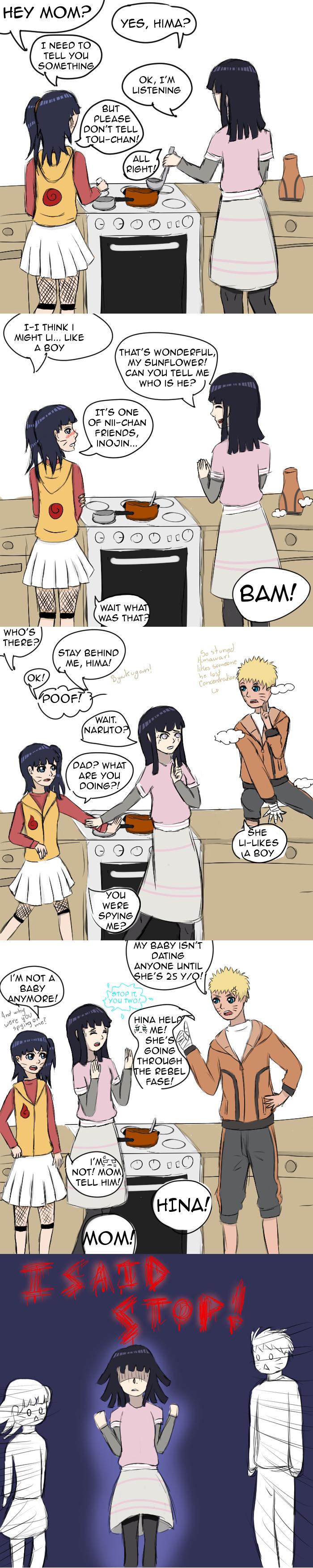 Naruto, Hinata and Himawari