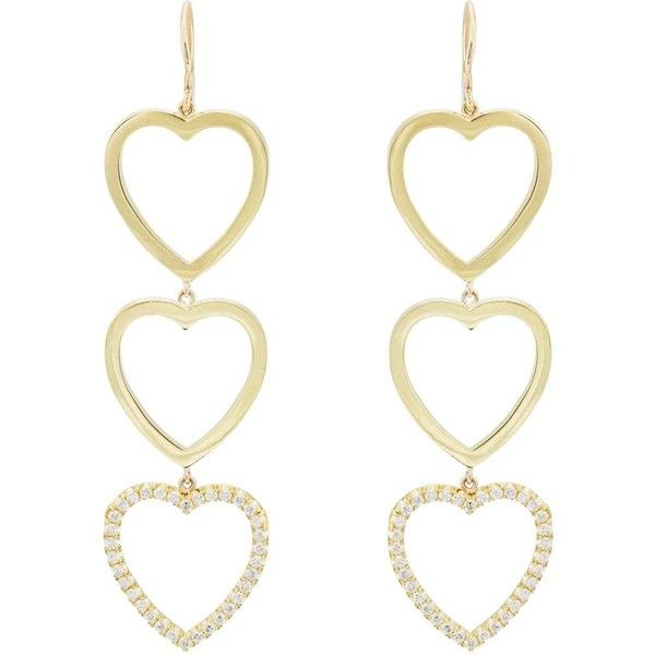 Jennifer Meyer Womens Open Heart Triple-Drop Earrings yDOOu79