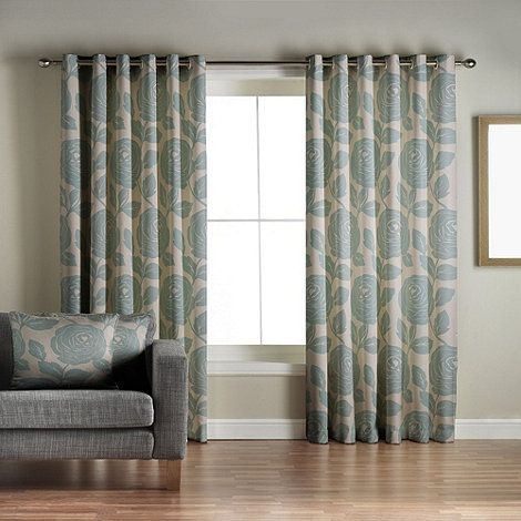 Jeff Banks Home Monaco Teal Lined Eyelet Curtains At Debenhams Living Room