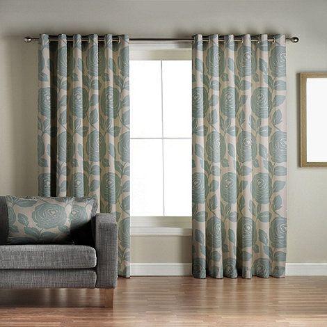 Jeff Banks Home Monaco Teal Lined Eyelet Curtains At Debenhams Living Room
