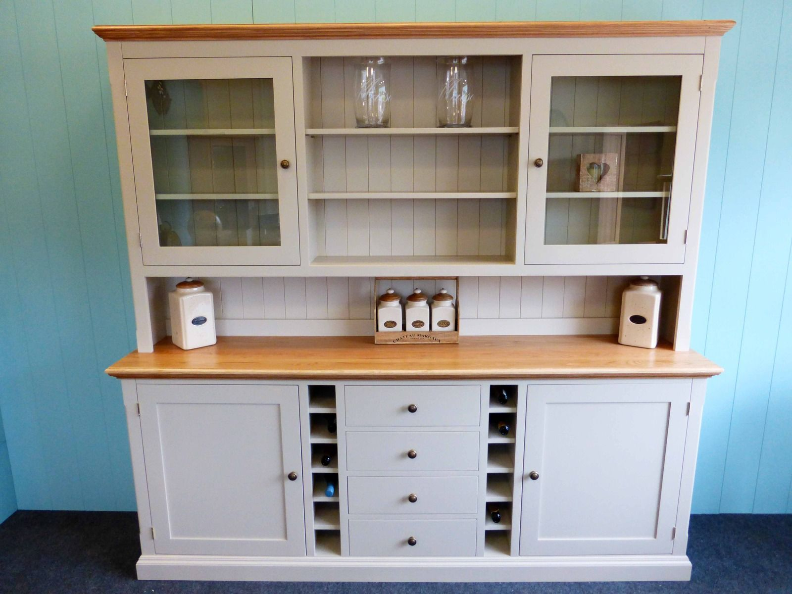 Bespoke Painted Dresser With Wine Rack   Bespoke Kitchen And Dining Room  Furniture   Pine Shop