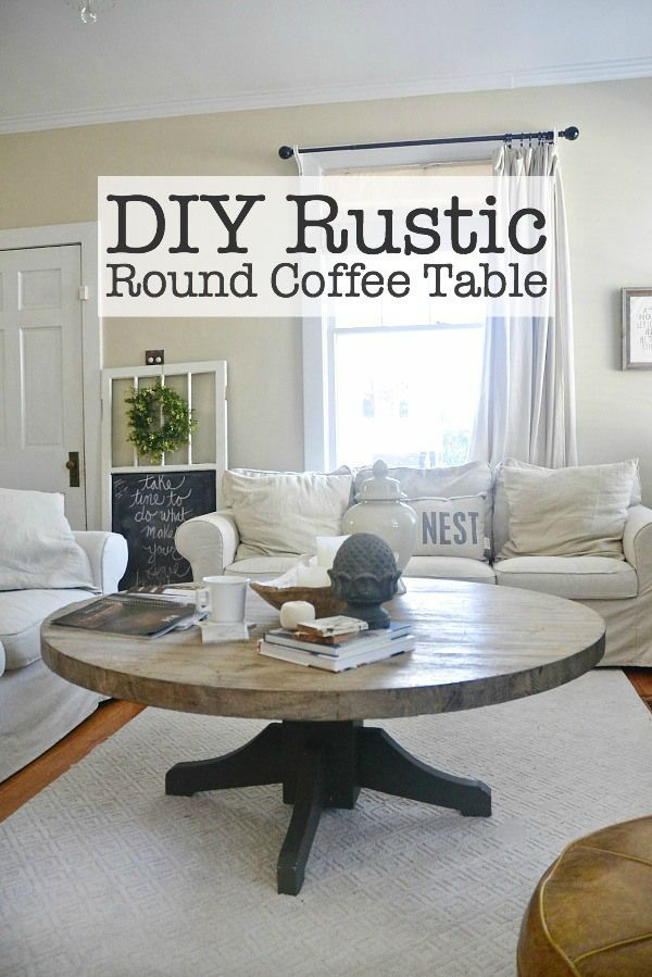 DIY - Beautiful and chic round coffee table - Turn a dining room table into a coffee table!