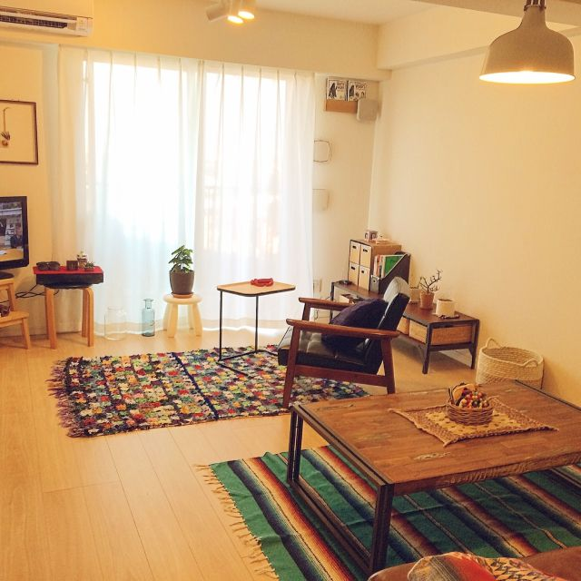 chikochiko0617さんの、Lounge,観葉植物,無印良品,IKEA,ラグ,