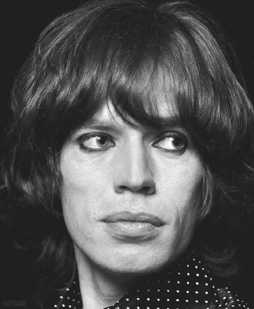 Mick Jagger by Jean-Marie Périer, 1974.