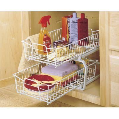 Closetmaid 12 11 In W 2 Tier Ventilated Wire Sliding Cabinet