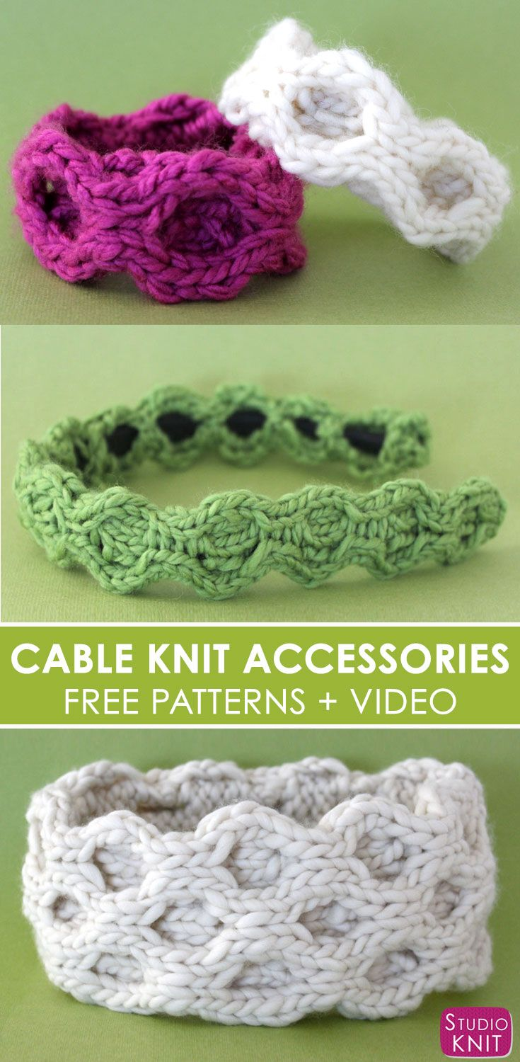 Quick Knit Cable Accessories by | Tejido y Ganchillo
