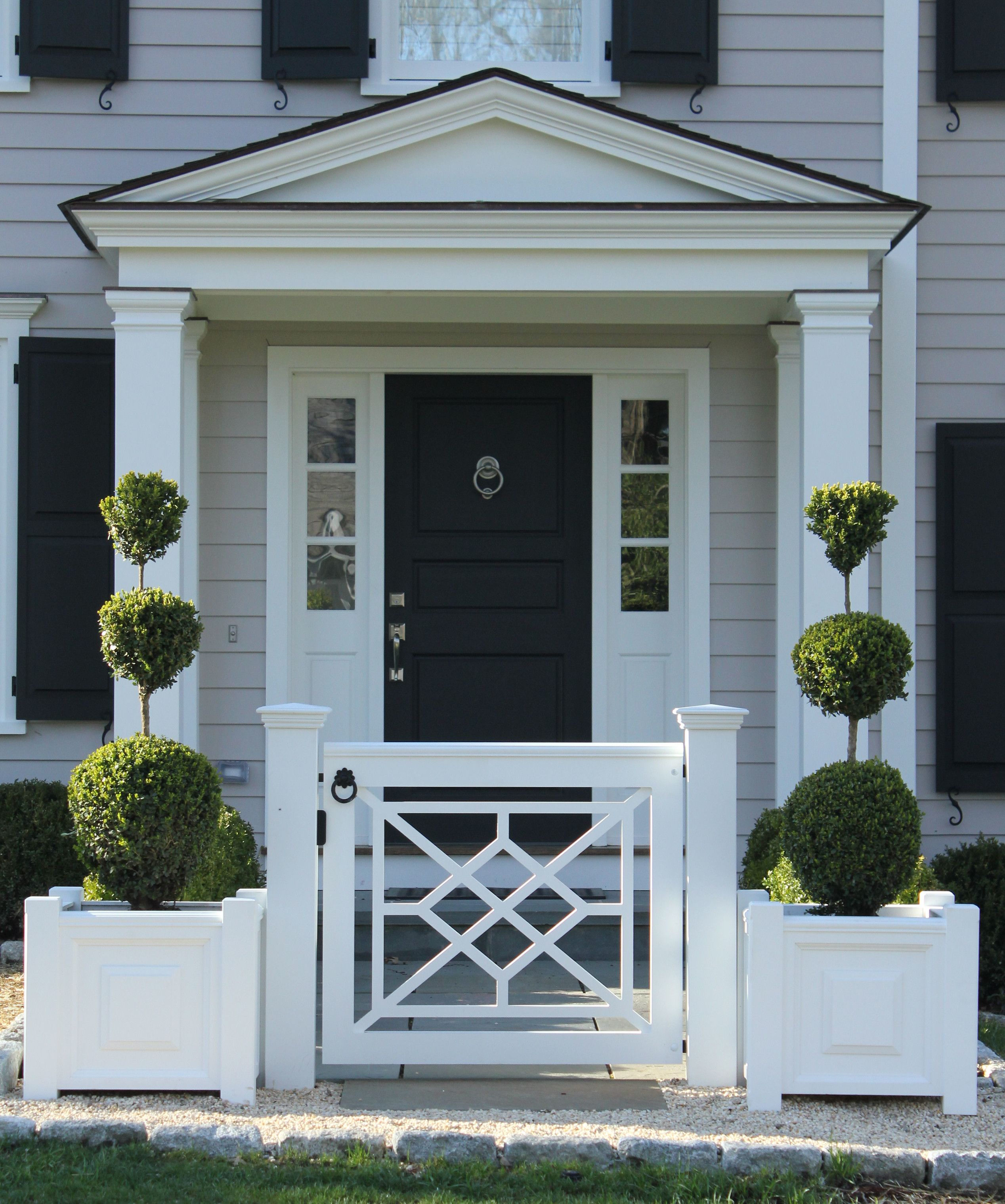 177 - New Canaan Ct - Chippendale Gate | Porch gate, House ...