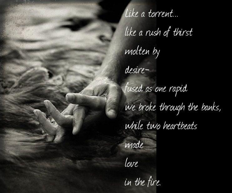 Love's fire...