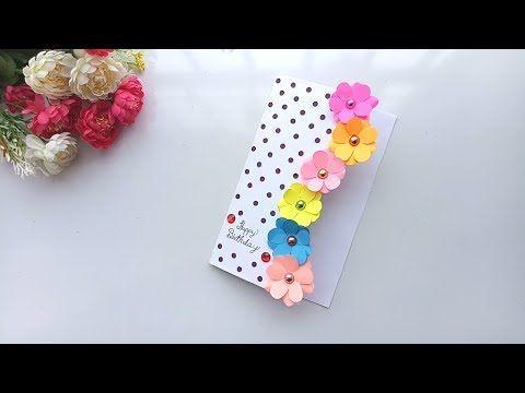 Beautiful Handmade Birthday Card Birthday Card Idea Youtube Card Making Birthday Cards Handmade Handmade Birthday Cards