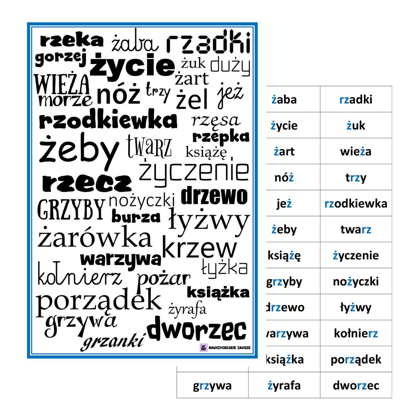Wypatrywanka Bystre Oczko Ortograficzna Z Rz 7602704129 Oficjalne Archiwum Allegro Education School Pre School