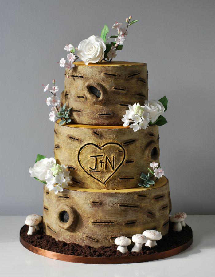 tree trunk wedding cake - Google Search | cake | Pinterest | Wedding ...