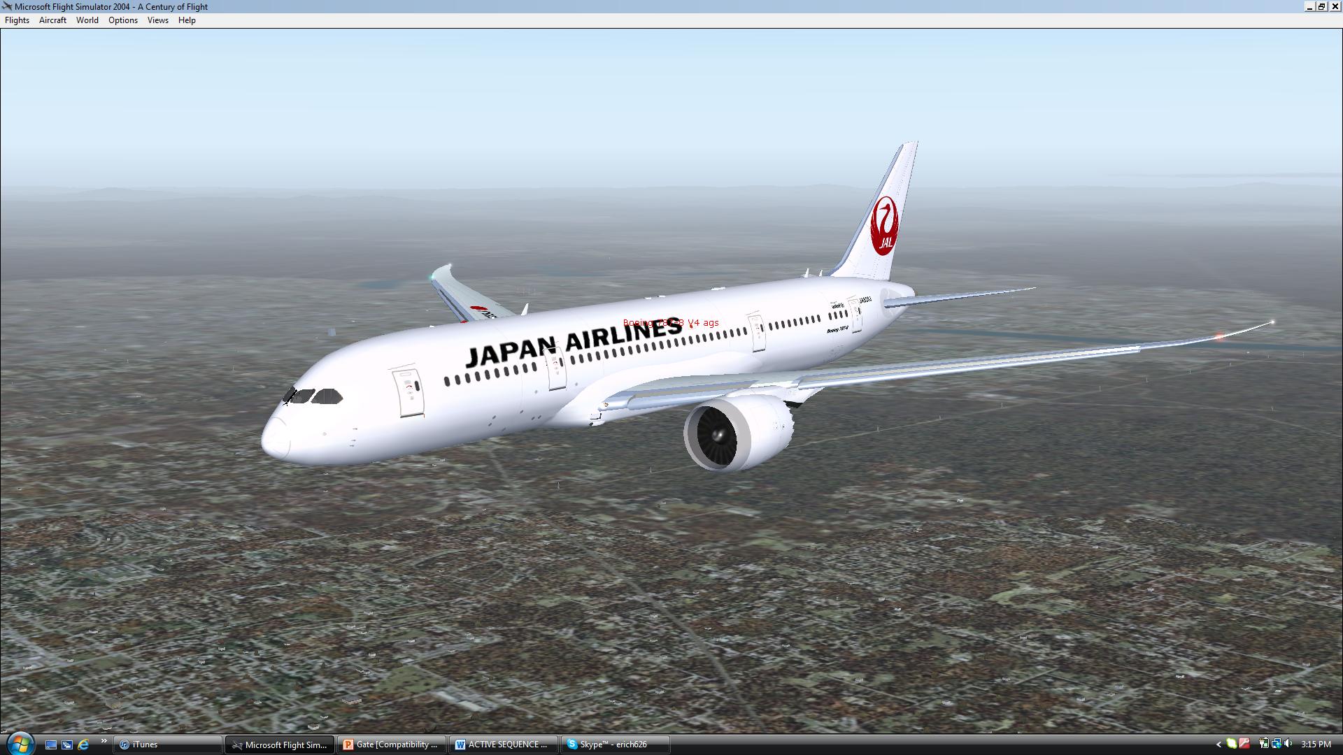 jal flight 8 approaching