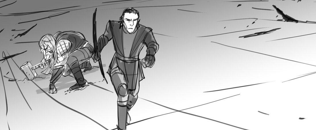 Thor Dark World Storyboard By Tom Nelson  MarvelS Thor Artwork