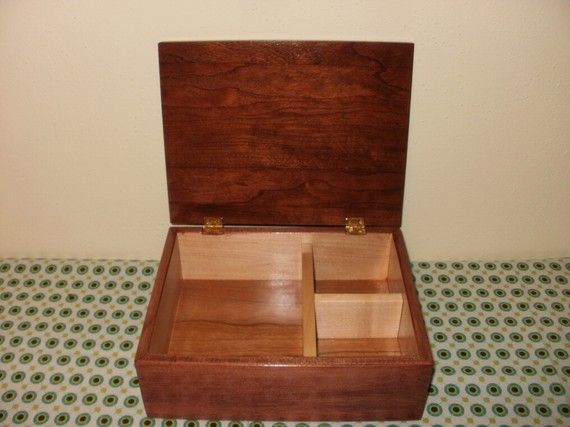 Jewelry Box Made with Solid Cherry and Maple Wood by lupacchino, $50.00