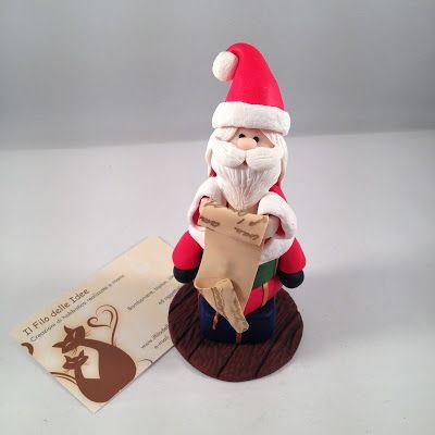 ilfilodelleidee: Anche se è finito Natale... Babbi Natale in fimo
