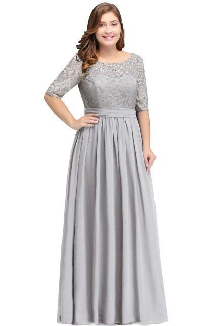 Mother Of The Bride Dresses Plus size A-line Chiffon Lace ...