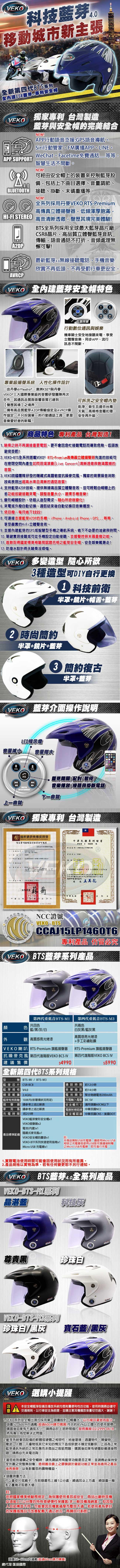 VEKO BTS-M1藍芽4.0立體聲專利安全帽M1 | CrazyMiKE 瘋狂賣客