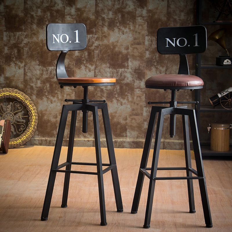 Vintage Retro Industrial Look Rustic Swivel Kitchen Bar Stool Cafe Chair For Home Kitchen Restaurant Coffee Sh Vintage Bar Stools Bar Stools Kitchen Bar Stools