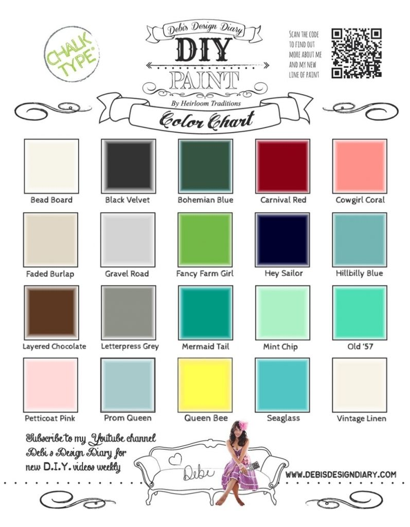 Coral Paint Color Chart My New Paint Beginning With Heirloom Traditions And Diy Paint