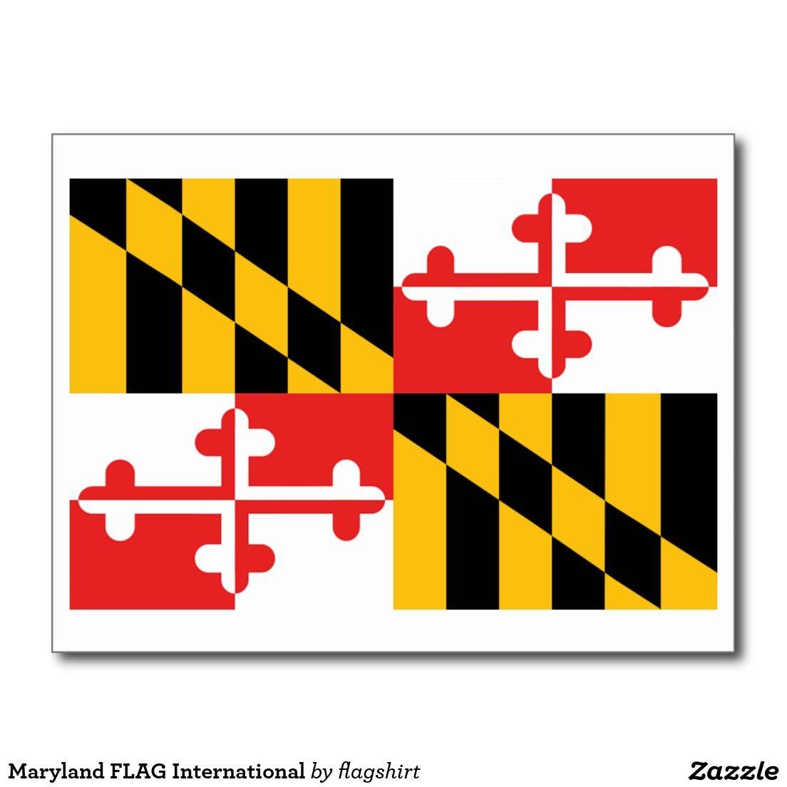 Maryland Flag International Postcard