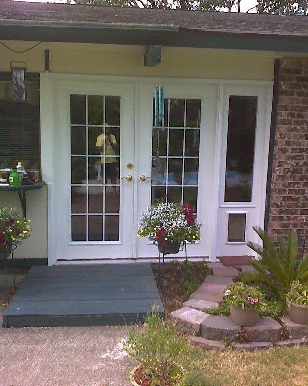 Dog door | French doors, French doors exterior