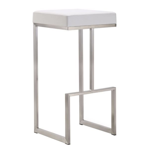 Shop Ferrara Stainless Steel Barstool Set Of 2 Free Shipping Today Overstock 10611957 Modern Bar Stools Bar Chairs Bar Stools