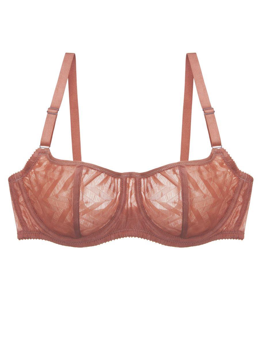 rust sheer bra / Vega Demi Cup Bra by Fortnight   Lenceria ...