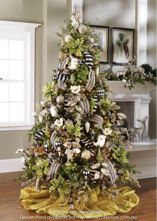 tendencias para decorar tu arbol de navidad 2016 2017 navidad pinterest. Black Bedroom Furniture Sets. Home Design Ideas