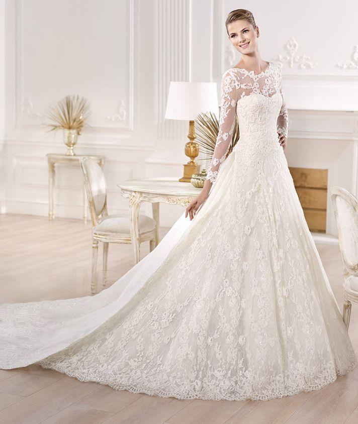White Color Choice For The Pronovias Wedding Dresses Design