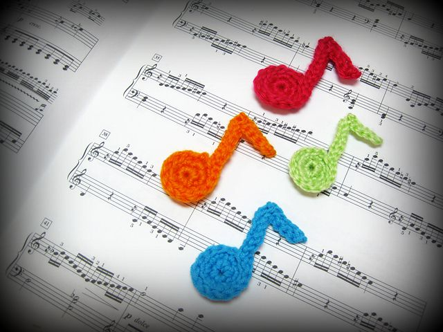 Ravelry: Crochet Musical Note Tutorial FREE pattern by niftyknitting ...