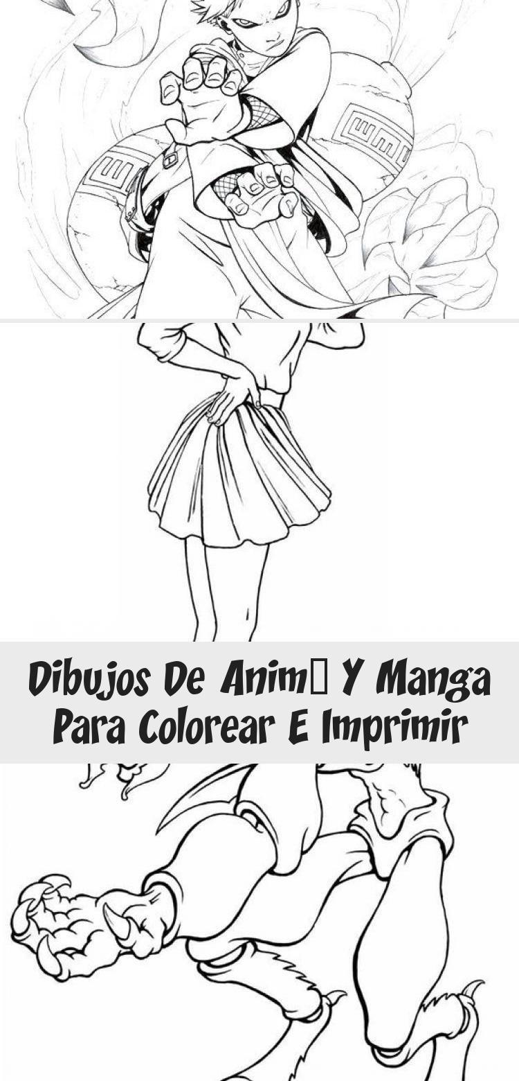 Dibujos de Animé y Manga para colorear e imprimir