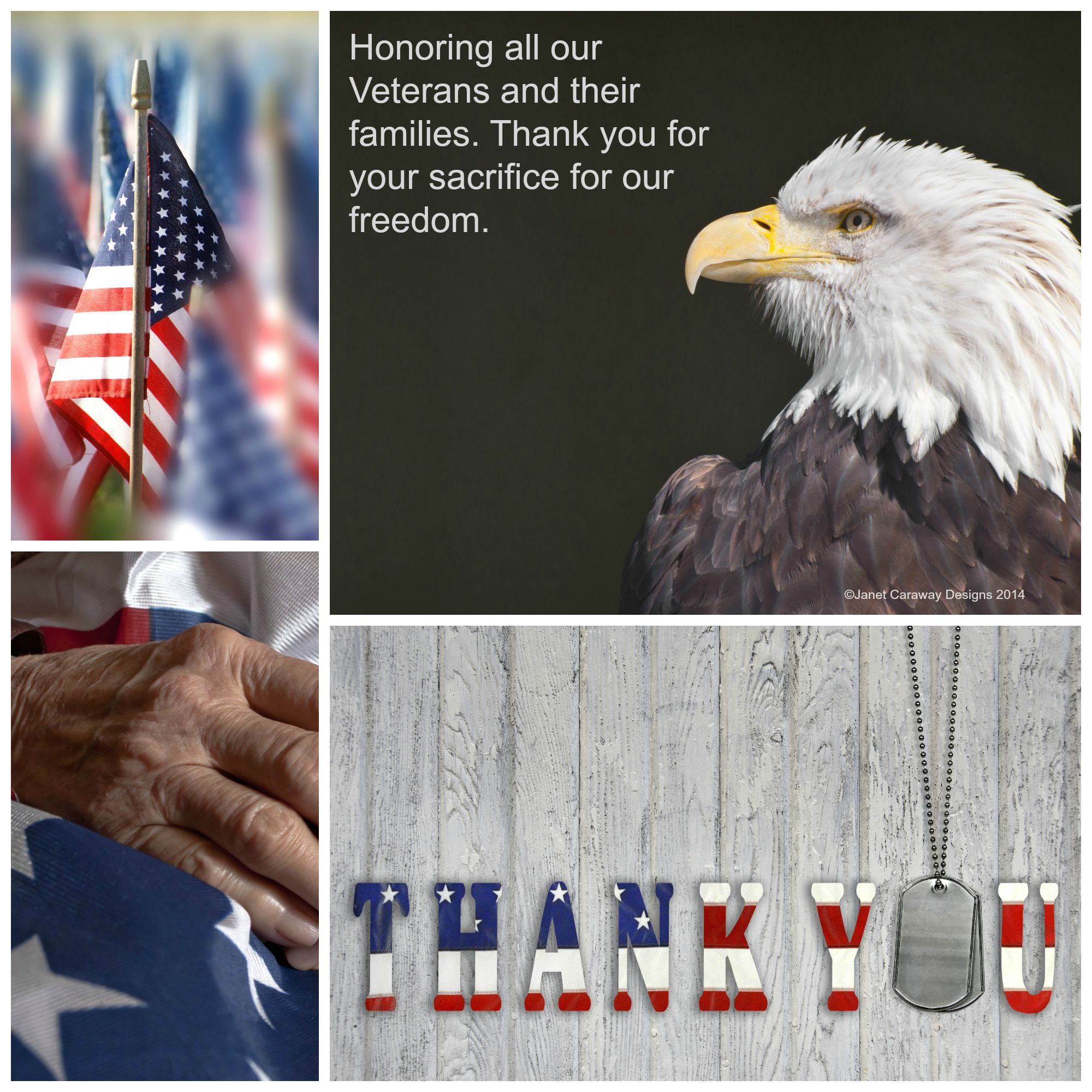 Giving thanks and honor to all our Veterans today.  A special thank you to my husband Cpt. Douglas Caraway, his dad Perry Caraway, my dad, Floyd Walden and my Uncles Durrell Walden and Pete Peterson.  Special thanks also to our cousins and friends who served this great nation.  #Veterans #Army #Navy #Marines #AirForce #CoastGuard #Military #USA #UnitedStates