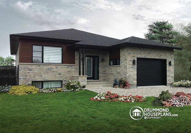 modern house plans front 1 level, rear 2 levels - Google otsing