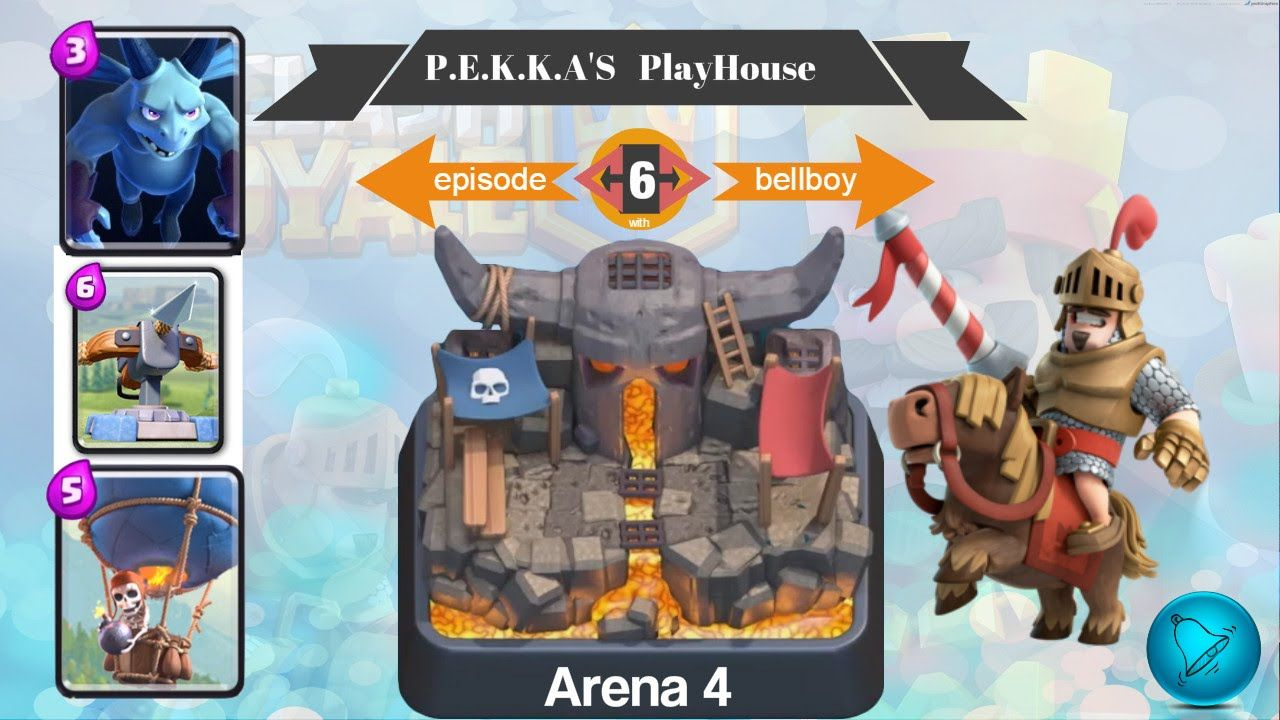 Clash royale arena 4 pekka playhouse card deck 3 crown for Deck pekka arene 6