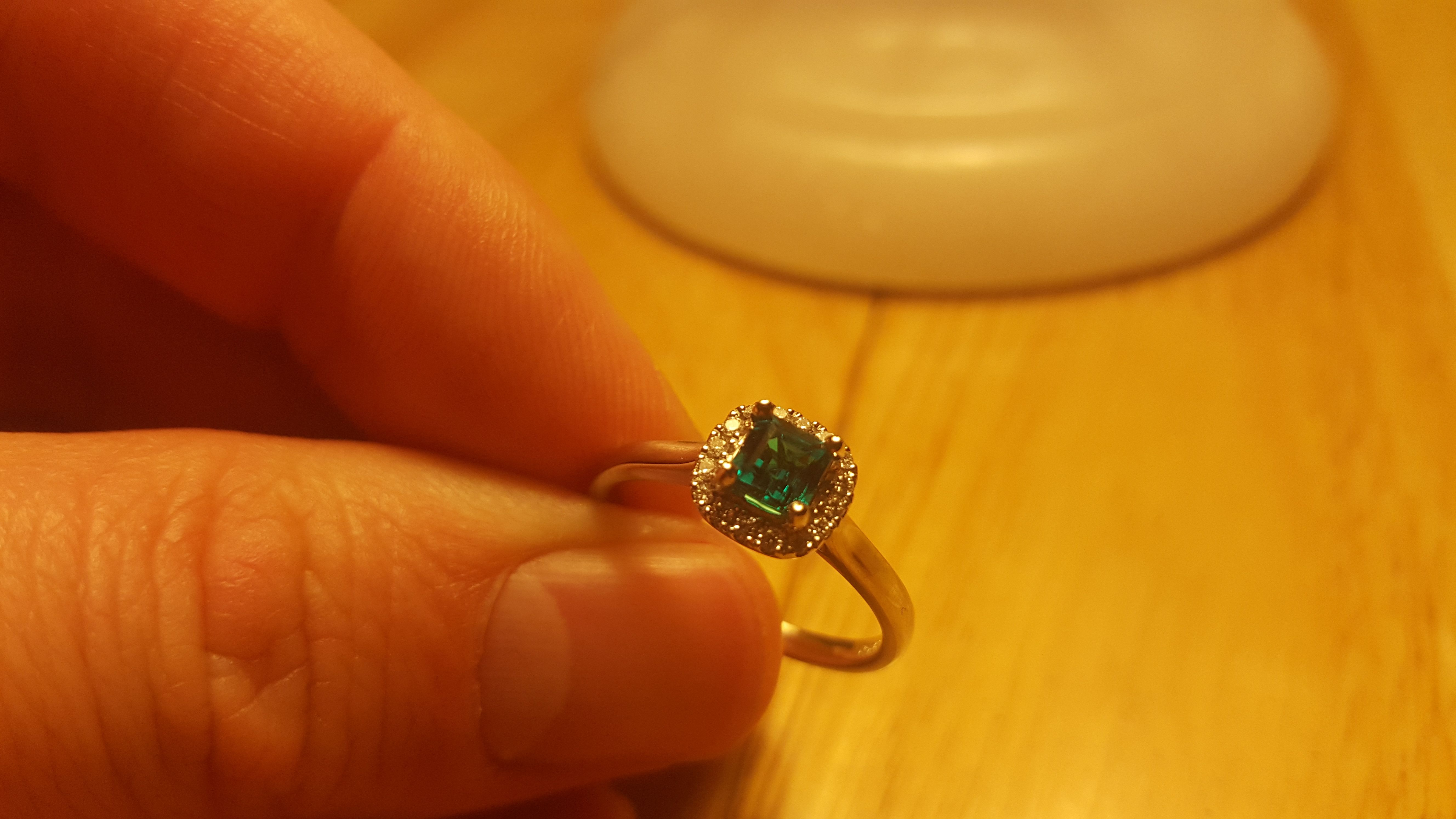 Our latest #bespoke #diamond and #emerald #ring set in # ...